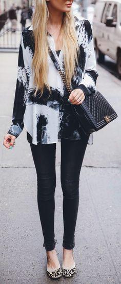 Black, white + leo.