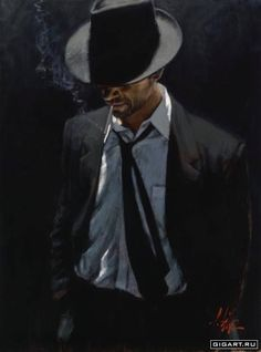 Man in Black Suit, by Fabian Perez