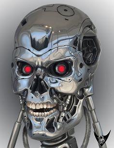 Maybe I'm opposed to time travel. Fantasy Movies, Sci Fi Fantasy, Terminator 1984, Man In Black, Cute Skeleton, Humanoid Robot, Skull Artwork, Skull Design, Marvel