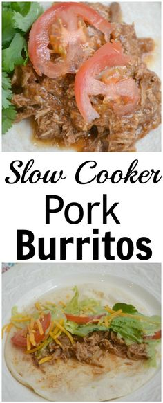 simple sauce is what helps these pork burritos juicy and full of flavor