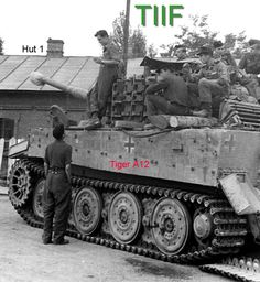 A late variant Tiger 1 with metal wheel arrangement