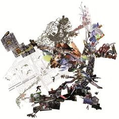 Image 1 of 1 from gallery of Enric Miralles Foundation to Offer Social Urban Regeneration Postgraduate Diploma. Courtesy of Enric Miralles Foundation Map Collage, Collage Drawing, Collage Ideas, Photomontage, Urban Mapping, Parque Linear, Collage Sculpture, Architecture Mapping, Architecture Plan