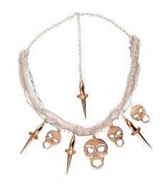 Bernard Delattrez - Skull and Dagger Necklace