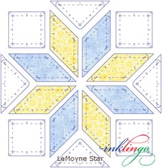 How to sew LeMoyne Star with Inklingo - great tutorial - step by step with pressing instructions
