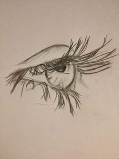 Drawing – pencil sketch of an eye - Art Sketches Pencil Art Drawings, Art Drawings Sketches, Cool Drawings, Pencil Sketching, Drawing Designs, Drawing With Pencil, Pencil Sketch Art, Drawings Of Eyes, Pencil Sketches Easy