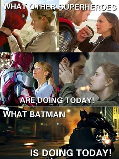 Batman in Valentine's Day So he's not getting a kiss from Dr.Harley Quinn?
