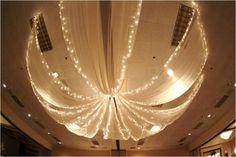 Ceiling Decor for a Wedding Reception