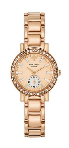 Rose gold watch by kate spade new york