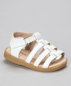 Take a look at this White Strappy Squeaker Sandal on zulily today!