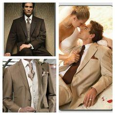 Mens brown wedding tux