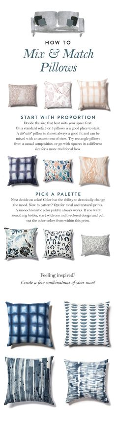 How to Mix & Match your Pillows! Rebecca Atwood shares her tips on how to style your pillows at home like a pro.