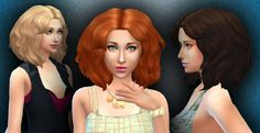 Maxis Match CC for The Sims 4 • sssvitlans:   Medium Messy Hair by Kiara24...