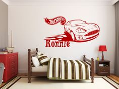 Mattel Hot Wheels sports car design Wall Sticker/Decal - available in a great range of colours!