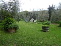 Garden in Tuscany, agriturismo Polveraia