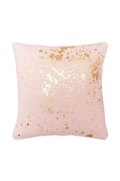 Pink Gold Splatter Cushion - flo and frankie