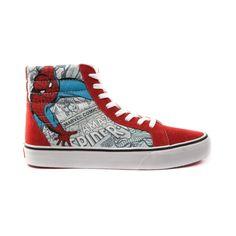 Vans Sk8 Hi Spider-Man Skate Shoe. I NEED THIS!