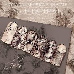Nail art with Moyra nail art stamping plate No. 15 Lacelove #moyra #nailart #stamping #plate #lacelove #lace