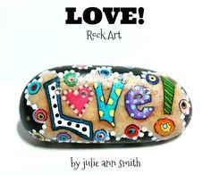 LOVE! Hand-Painted ROCK ART #artpainting