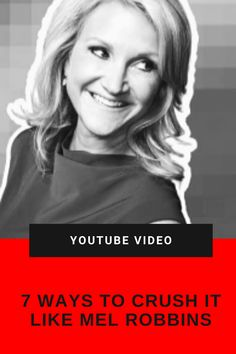 Do you know Mel? Well, let me introduce you to her and 👉👉 7 Ways You Can Crush It Like Mel Robbins Mel Robbins, How To Introduce Yourself, Crushes, Motivation, Tips, Youtube, Youtubers, Youtube Movies, Counseling