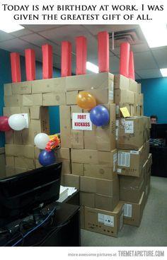 Birthday at work…EPIC