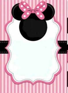 24 Convites Da Minnie Rosa Com Estampas Delicadas Modelos De Convite