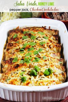 Ham and Cheese Breakfast Enchiladas with Creamy Salsa Sauce | http://www.carlsbadcravings.com/ham-and-cheese-breakfast-enchiladas-recipe/