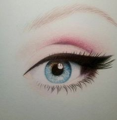 Eye sketch colour beautiful 28 Ideas for 2019 Beautiful Drawings, Cool Drawings, Pencil Drawings, Drawings Of Girls Faces, Drawings Of Faces, Beautiful Images, Realistic Eye Drawing, Drawing Eyes, Realistic Rose