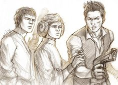 @jamesdashner said that Thomas, Newt and Minho are like Luke, Leia and Han.