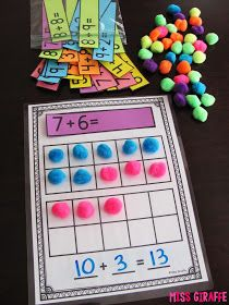 learning Making a 10 to Add is a great math strategy to help students mentally add bigger numbers. It's a skill I picked up somewhere along the way i. Math Classroom, Kindergarten Math, Teaching Math, Preschool, Teaching Ideas, Math Resources, Math Activities, Mental Math Strategies, Ten Frame Activities