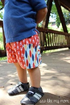 Boy's and Girl's Sycamore Shorts Pattern in sizes 12 m to 8