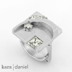celestial trail ring/pendant. upcycled diamonds in stainless steel. by kara | daniel, via Flickr