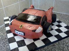 Red Ferrari car cake