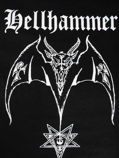HELLHAMMER BACKPATCH black metal celtic frost heavy metal Free Shipping