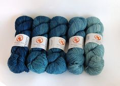 Gradient denim-inspired colours from Ancient Arts Yarn: Lookin Fine In My New Blue Jeans