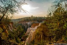 """At over 1,000-acres of land, Providence Canyon State Park is dubbed the """"Little Grand Canyon"""" for reasons that you have to see to believe."""