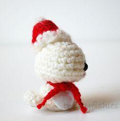 RESERVED Listing  White Baby Christmas Bird  Mini Kawaii