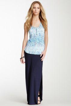 Slit Maxi Skirt by Loveappella on @HauteLook
