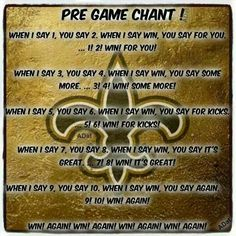 PRE GAME CHANT!