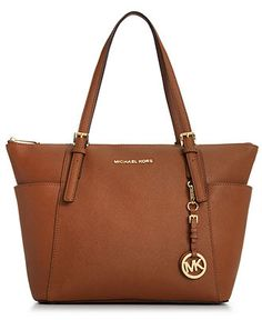 MICHAEL Michael Kors Handbag, Jet Set East West Top Zip Tote - Shop All Michael Kors Handbags & Accessories - Handbags & Accessories - Macy'...