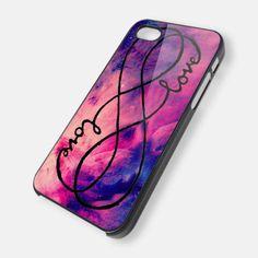 galaxy infinity love, twin case - iPhone 4
