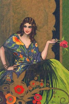 Adolfo Busi Art Deco postcard.