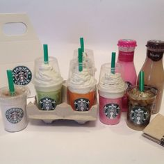Starbucks inspired  coffee drinks for 18 inch by SweetLoverShop