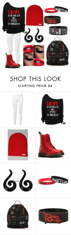"""❤️Happy Valentines Day❤️"" by brianne-r-s ❤ liked on Polyvore featuring Frame Denim, Neff, Dr. Martens, Versace, women's clothing, women, female, woman, misses and juniors"