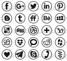 Elegant set of Line Round social media Icons, great for Graphic and Web Design. The package contain all the new social media logos of the most popular Social Media websites. Most Popular Social Media, Social Media Icons, Line, Web Design, Vectors, Inspiration, Collection, Biblical Inspiration, Design Web