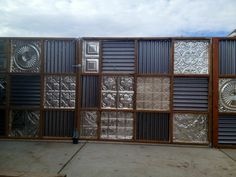 corrugated metal fence gate