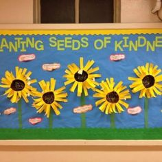 Classroom bulletin board ideas: Seeds of Kindness