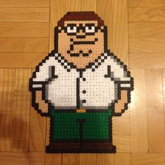 Peter Griffin Family Guy hama perler beads by Lauro Espinosa Val