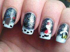 Christmas themed nail art by Spektor's Nails