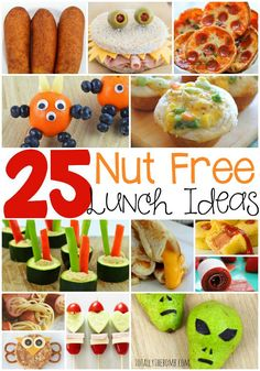 25 Delicious Nut-Free School Lunch Ideas so you can send your kids to school worry (and allergy) free! Click now!