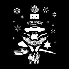 Supernatural Christmas Tree Silhouette White